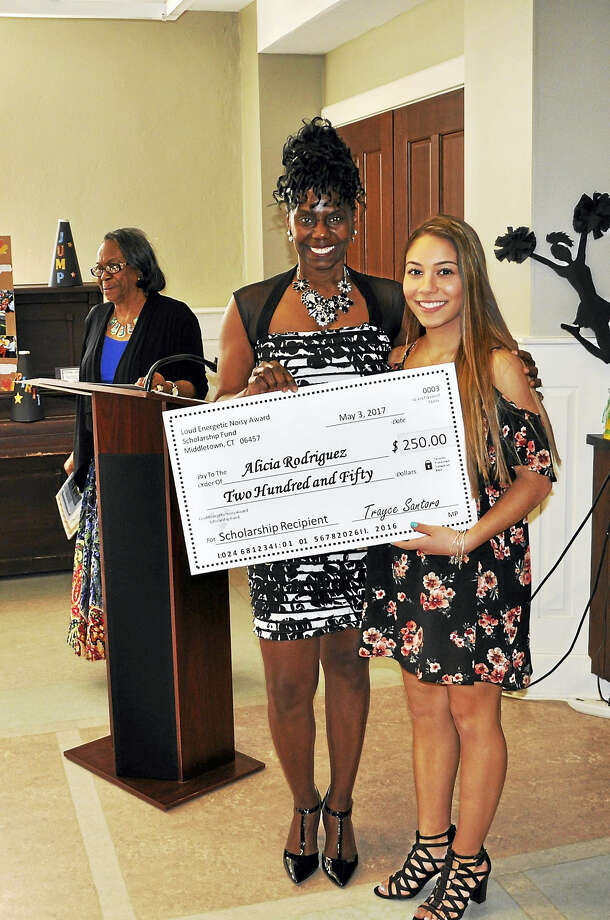 Loud Energetic Noisy Award recognized seniors from Mercy, Middletown and Vinal high schools for their outstanding academic and athletic achievements. Shown here is Alicia Rodriquez. Photo: Courtesy Mercy High School