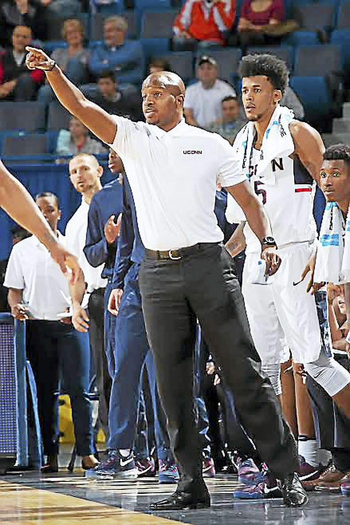 Dwayne Killings joined UConn's coaching staff this season after spending eight seasons at Temple.Photo courtesy of UConn athletics