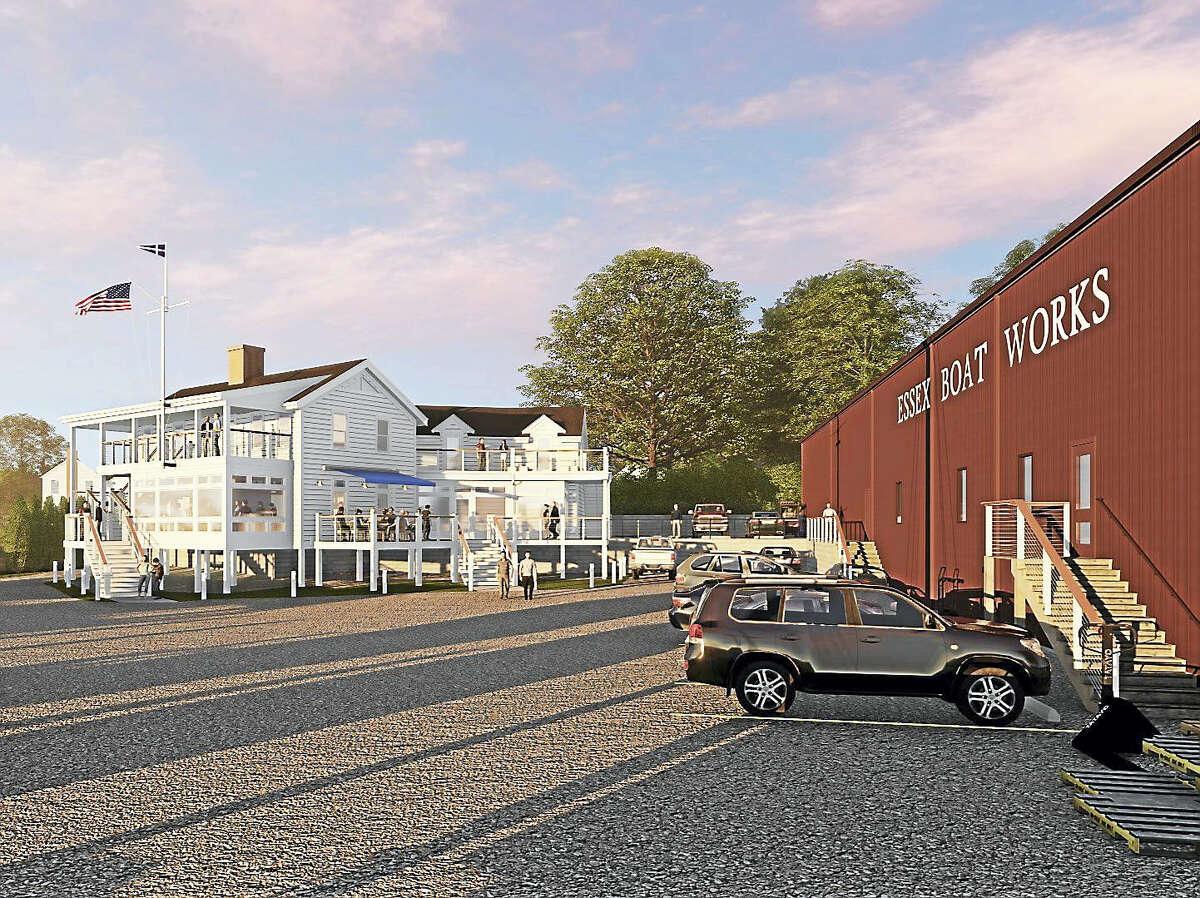 Essex Boat Works main building rendering.