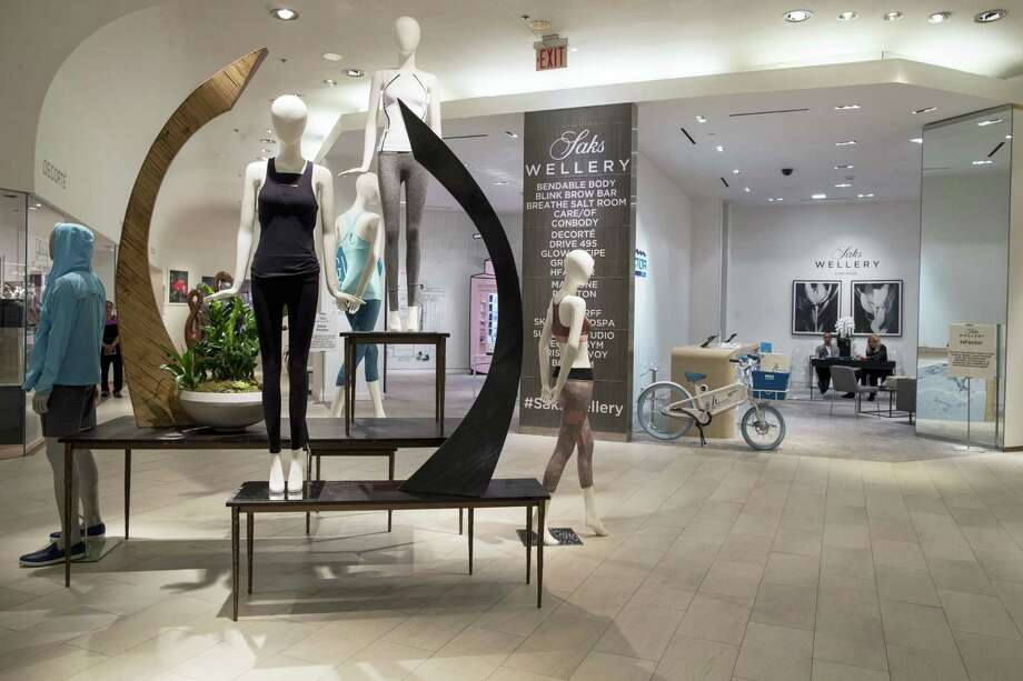The Wellery on the second floor of the Saks Fifth Avenue flagship store in New York. Saks' New York flagship opened a 16,000-square-foot wellness sanctuary that offers 1,200 different fitness classes, a salt chamber and meditation classes alongside wellness merchandise. Photo: Mary Altaffer / The Associated Press  / Copyright 2017 The Associated Press. All rights reserved.