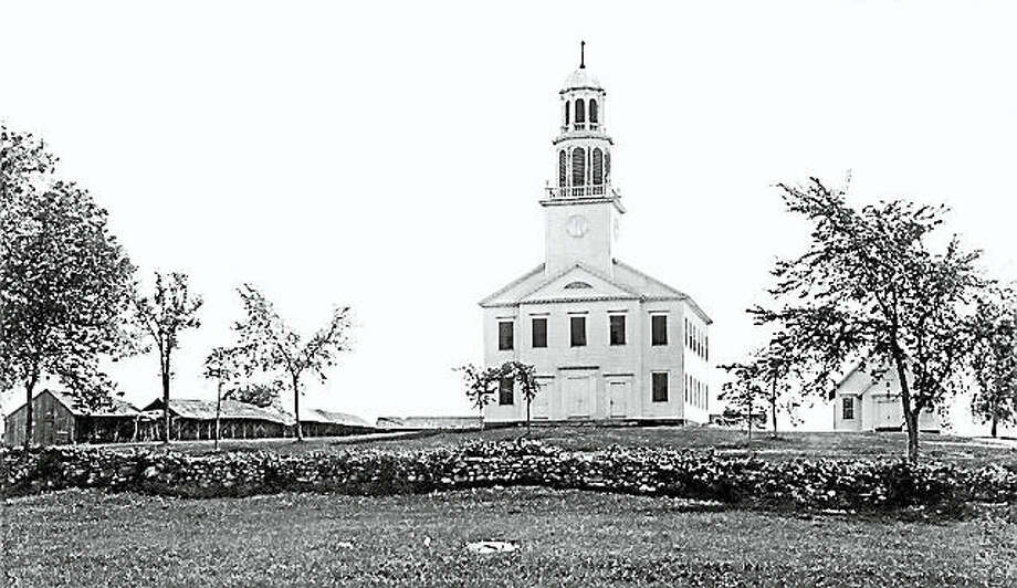 This year marks the start of Killingworth's year-long celebration of the town's 350th anniversary. Shown is the Congregational Church, circa 1895. Photo: Contributed Photo