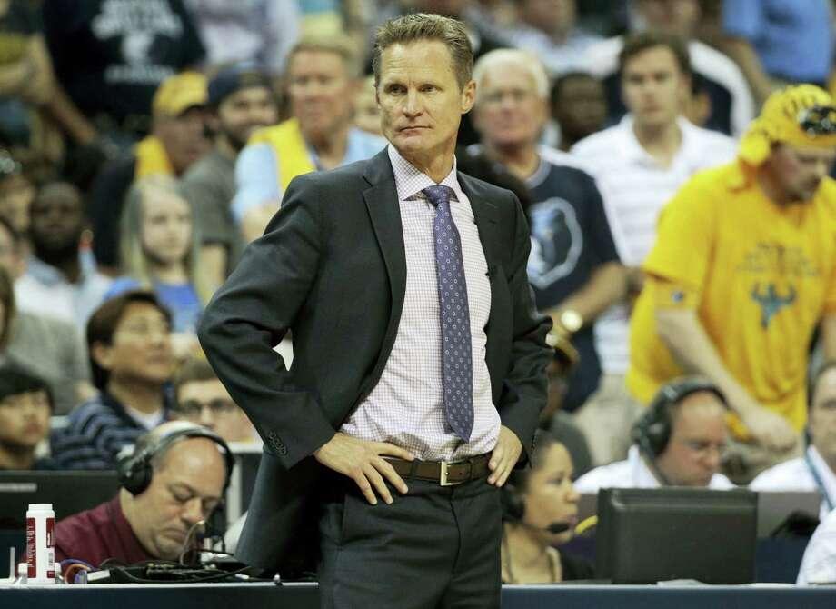 Golden State Warriors head coach Steve Kerr. Photo: AP Photo — Mark Humphrey  / AP