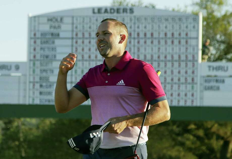 Sergio Garcia smiles after the third round of the Masters Saturday in Augusta, Ga. Photo: Charlie Riedel — The Associated Press  / Copyright 2017 The Associated Press. All rights reserved.