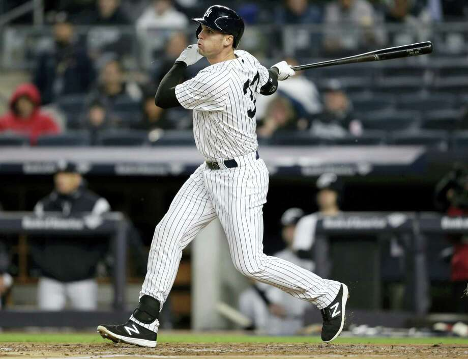 After going on a tear in spring training, the Yankees' Greg Bird has struck out 22 times in 19 regular season games, with a .100 average and more trips to the DL (2) than homers (1). Photo: The Associated Press File Photo  / Copyright 2017 The Associated Press. All rights reserved.