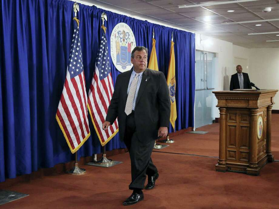 New Jersey Gov. Chris Christie walks from the podium following a news conference Monday, July 3, 2017, in Trenton, N.J. Christie said late Monday he'll sign a budget deal and end a government shutdown that had closed state parks and beaches to the public. Photo: Mel Evans / AP Photo  / FR171525 AP