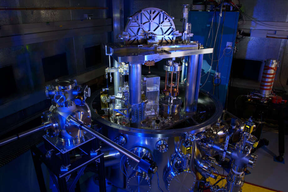 The NIST-4 Kibble balance. The instrument was used to calculate Planck's constant, an important step toward redefining the kilogram. Photo: Photo Courtesy Of Jennifer Lauren Lee-NIST PML  / The Washington Post