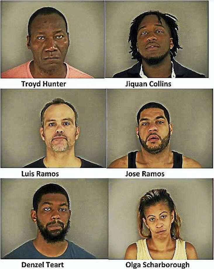 Nine were arrested in Middletown's north end following a narcotics investigation and sweep. Photo: Middletown Police