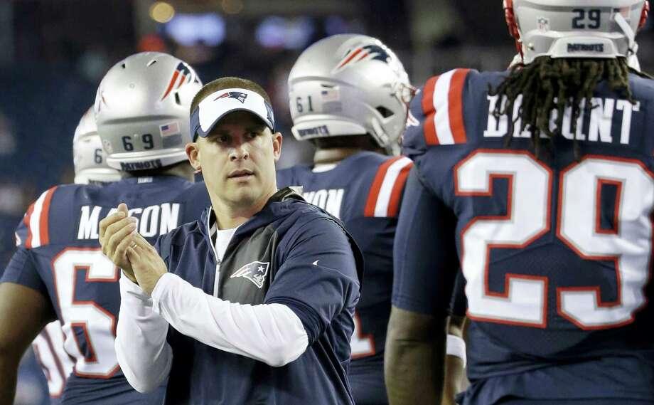 New England Patriots offensive coordinator Josh McDaniels. Photo: The Associated Press File Photo  / Copyright 2017 The Associated Press. All rights reserved.