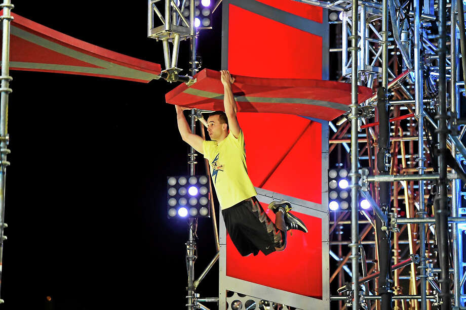 "Joe Moravsky, of Connecticut, in last season's ""American Ninja Warrior"" Las Vegas finals. Photo: David Becker — NBC  / 2016 NBCUniversal Media, LLC"