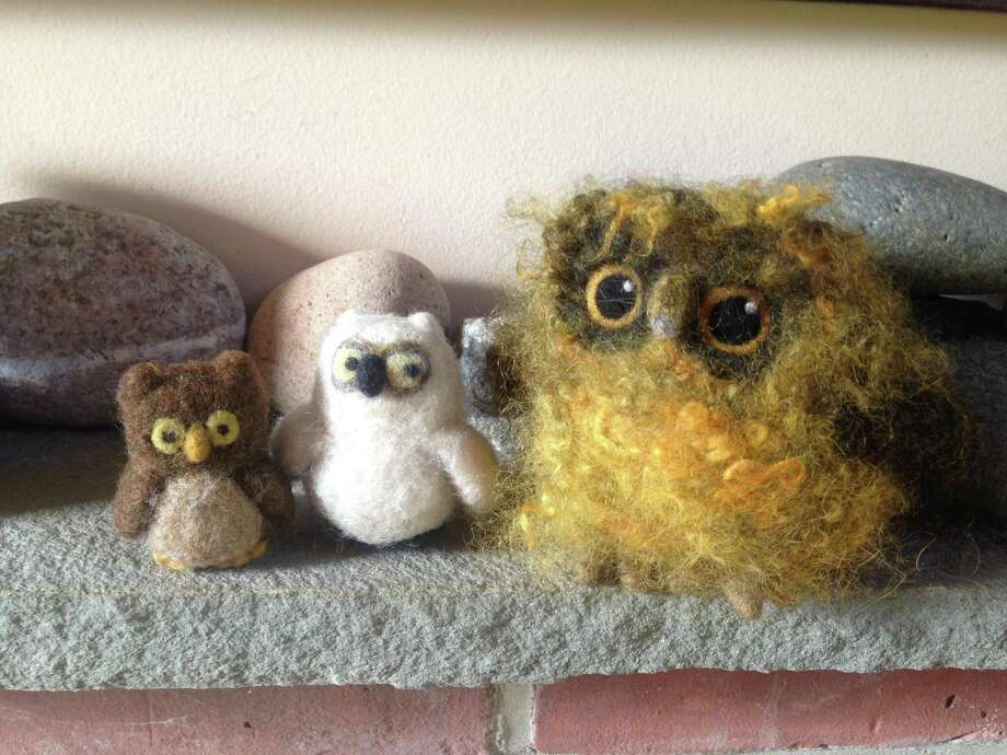Needle felting is an easy-to-learn craft that involves using a barbed needle to sculpt wool. Photo: Flanders Nature Center / Contributed Photo