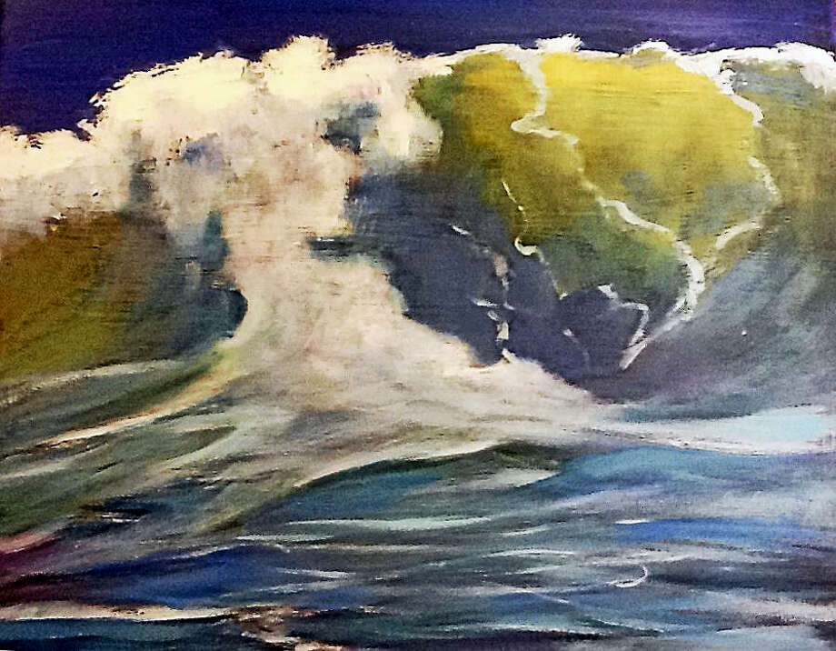 """Wave Crest"" an 8x8 painting at Maple and Main by Pam Carlson of Essex. Photo: Contributed Photos"