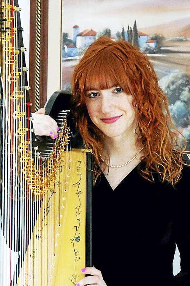 Harpist Chaela Franck Photo: Digital First Media