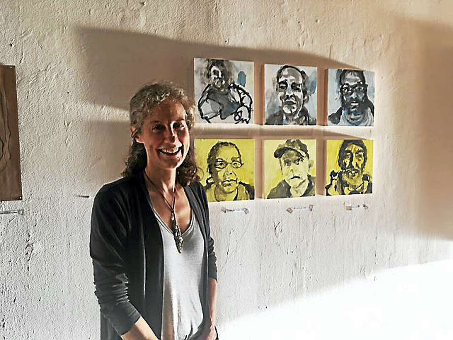 Contributed photoArtist Abby Carter's portrait show is now on display in Hartford. Photo: Digital First Media