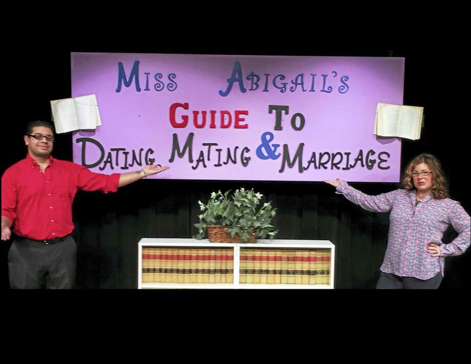 Photo courtesy of Connecticut Cabaret Theatre Julie Lemos and Jon Escobar star in the Connecticut Cabaret Theatre's production of Miss Abigail's Guide to Dating, Mating & Marriage. The play opens Jan. 6. Photo: Digital First Media