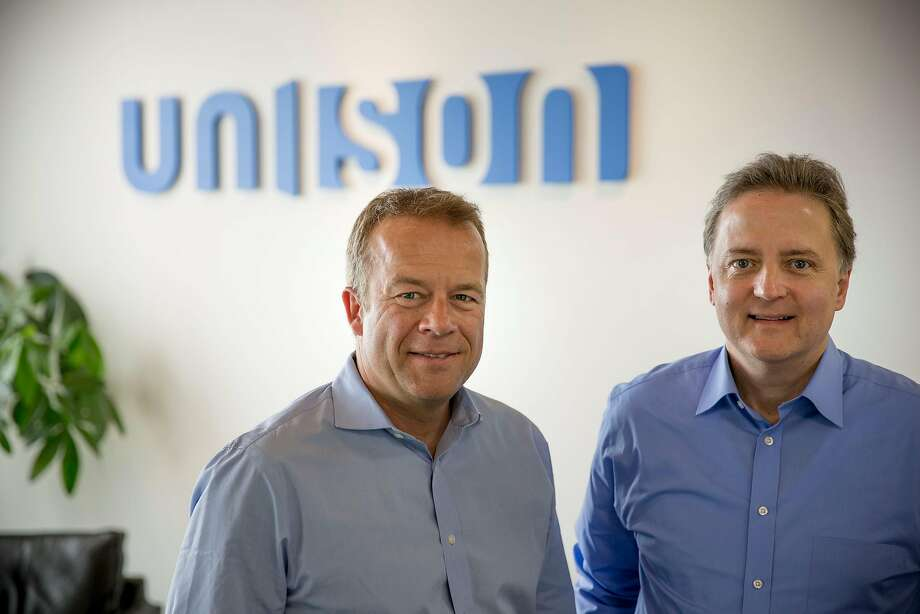 Thomas Sponholtz (left) and�Jim Riccitelli are co-CEOs of Unison, a company that helps homeowners with down payments in exchange for a share of any rise in the home's value Photo: Unison