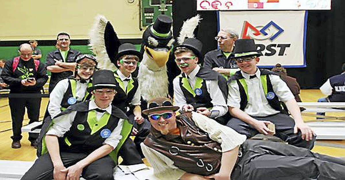 Middletown's Xavier High School Robotics Team 4557 FullMetal Falcons. Team 4557 recently competed in the Waterbury District Competition, winning the Engineering Inspiration Award for the second year in a row.