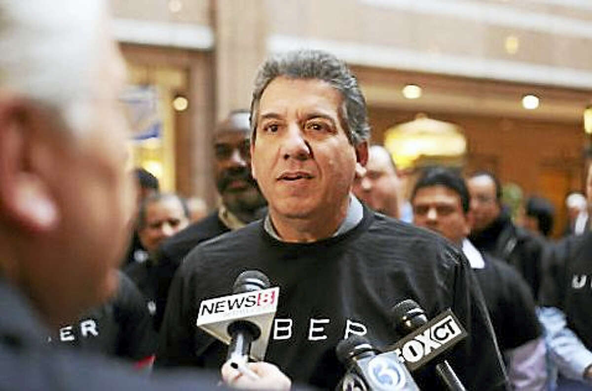 Michael Cacioppo, a former Connecticut taxi driver and now an Uber driver
