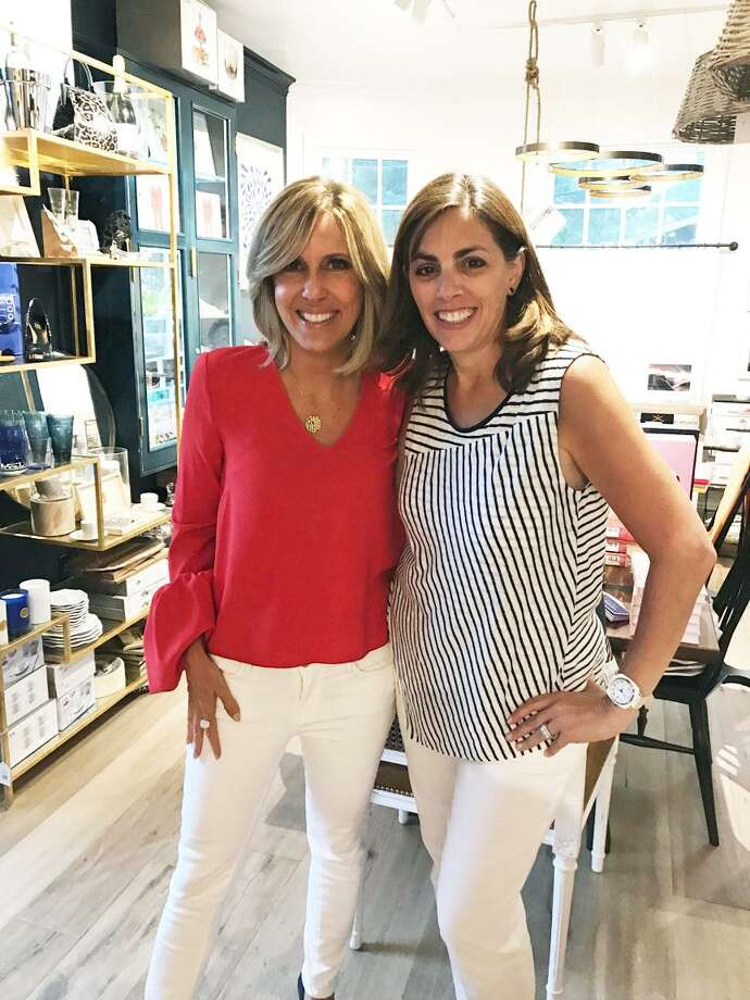 "TV journalist and novelist Alisyn Camerota and Lisa Lori, owner of the Perfect Provenance, at the signing of Camerota's  new book, ""Amanda Wakes Up"" at the Greenwich establishment last week. Photo: Contributed"