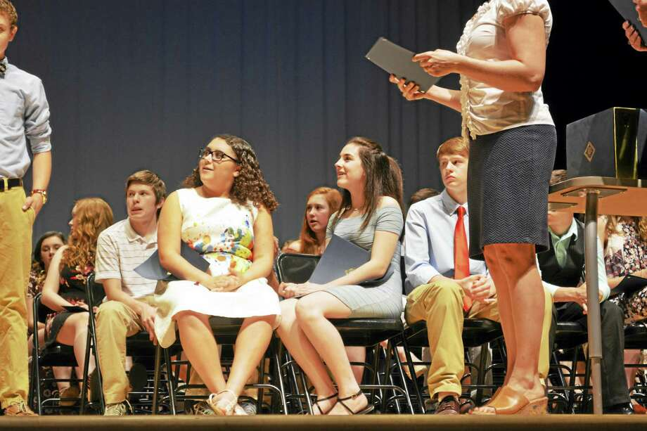 Haddam-Killingworth Middle School eighth-graders were promoted to high school students Friday night during the 32nd annual class night. Photo: Cassandra Day — The Middletown Press