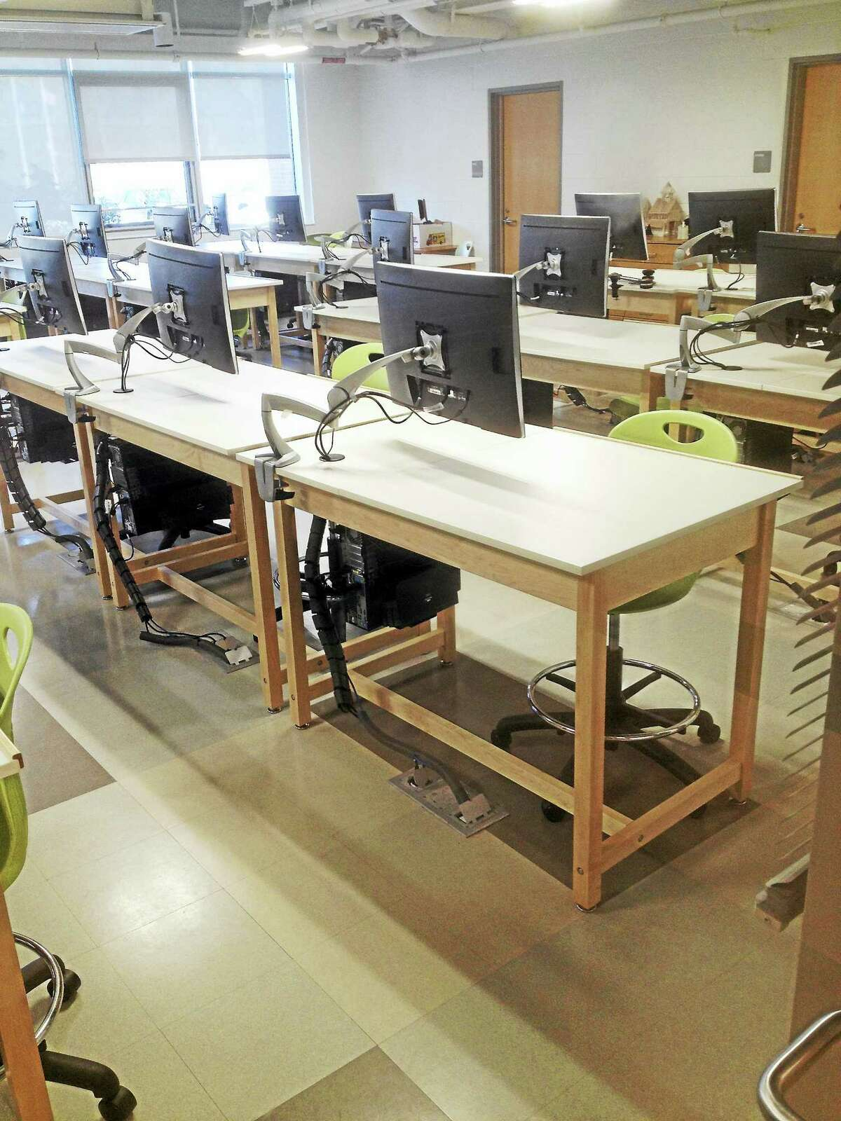 The last block of renovated classrooms will open at month's end.
