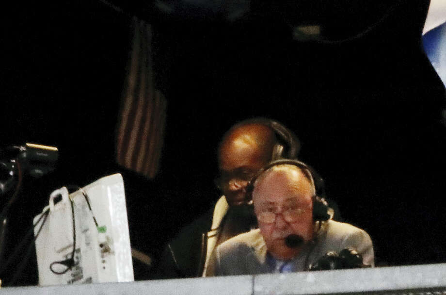 Boston Red Sox broadcaster Jerry Remy works during the seventh inning of a baseball game between the New York Yankees and the Boston Red Sox, Tuesday, June 6, 2017, in New York. Remy said pitchers such as Yankees ace Masahiro Tanaka shouldn't be allowed translators on the mound. (AP Photo/Frank Franklin II) Photo: AP / Copyright 2017 The Associated Press. All rights reserved.