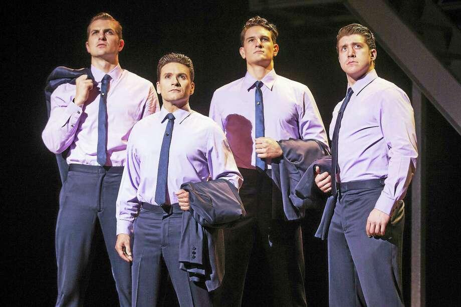 "From left, ""Jersey Boys"" cast members Keith Hines, Aaron De Jesus, Cory Jeacoma and Matthew Dailey. Photo: Photo By Jeremy Daniel  / Photo: Jeremy Daniel  (Instagram @JeremyDanielPhoto)"