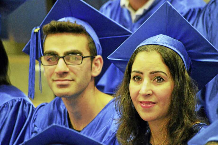 Middletown Adult Education's Class of 2017 graduated Tuesday night at Middletown High School. Photo: Tom Dzimian — Special To The Press