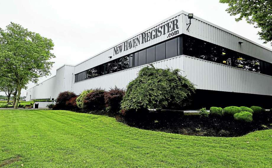 The New Haven Register building on Gando Drive in New Haven Monday. Photo: Peter Hvizdak — New Haven Register  / Peter Hvizdak