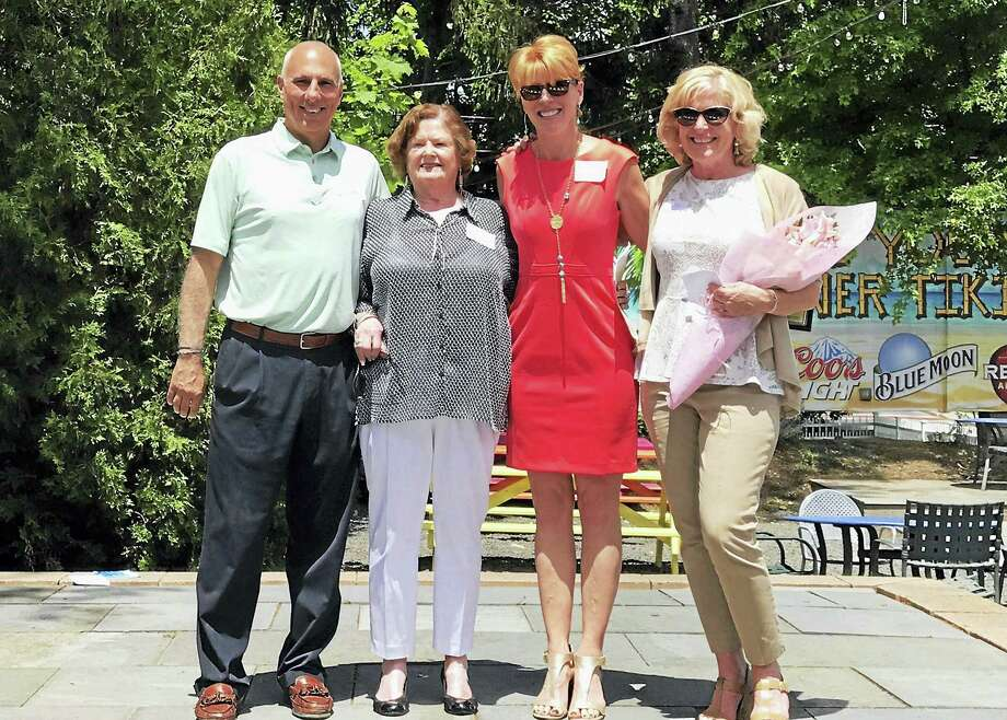The Middlesex County Chamber of Commerce's Real Estate Council hosted its luncheon at Angelico's Lake House Restaurant in East Hampton June 1. It featured the presentation of the 2017 Mary Ellen Klinck Real Estate Agent of the Year Award. This year's recipient is Juliet Cavanaugh of Cavanaugh & Company. From left are: cochair of the Middlesex Chamber's Real Estate Council David Gallitto, former chair of both the Middlesex Chamber and Real Estate Council Mary Ellen Klinck, Cavanaugh & Company owner Cavanaugh and cochair of the Middlesex Chamber's Real Estate Council Diane Sayers. Photo: Contributed Photo