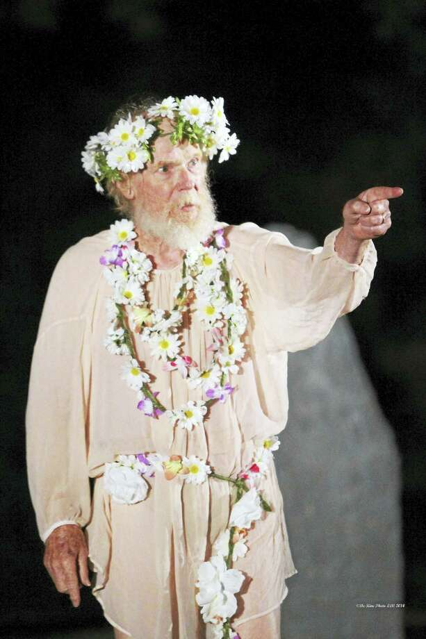 John Basinger is King Lear in the 2014 Shakespeare in the Grove production in Middletown. Photo: Contributed Photo  / (c)dekinephotoLLC2013