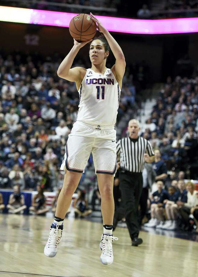 UConn's Kia Nurse shoots during the first half Saturday's AAC quarterfinal game against Tulsa. Photo: Jessica Hill — The Associated Press  / AP2017