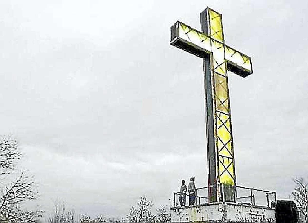 Early Holy Land cross photo