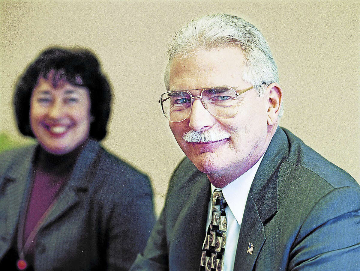 Former Mayor Domenique Thornton and her then-assistant George Dunn are shown in January 2002.