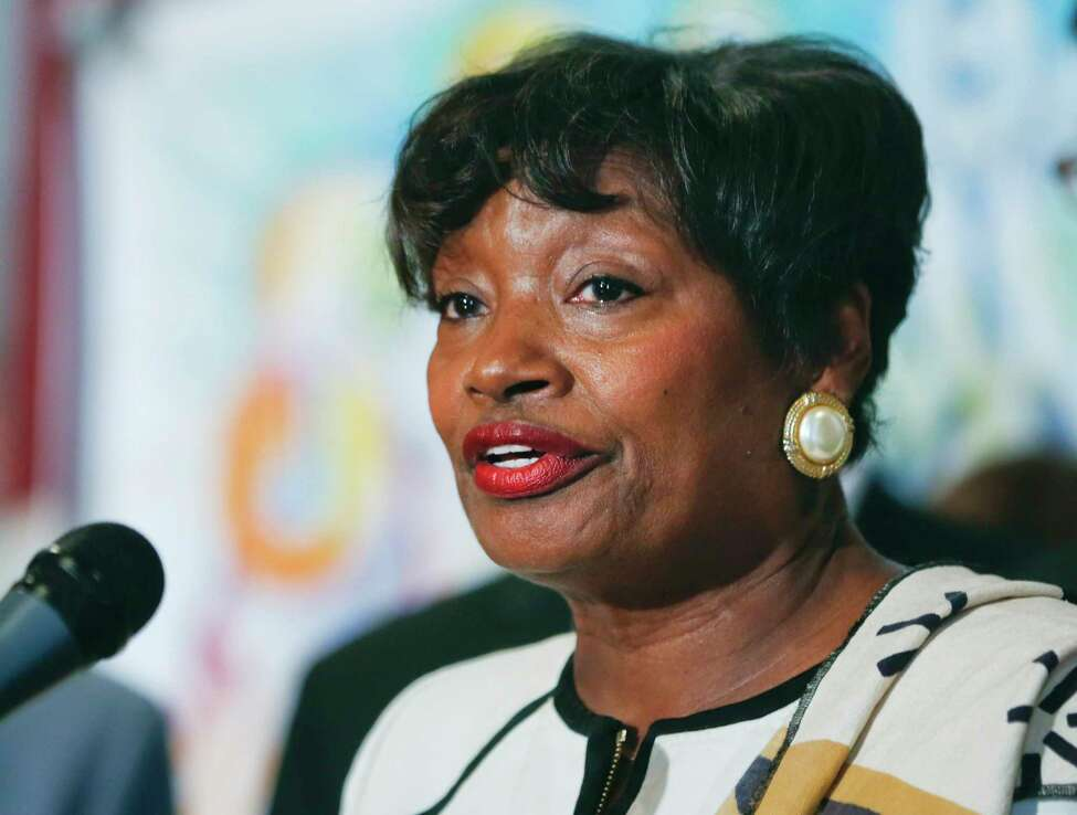 Senate Minority Leader Andrea Stewart-Cousins, D-Yonkers, could become the first black woman to lead the New York Senate. (AP Photo/Mike Groll, File)