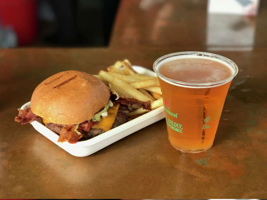 Marlowe's bacon cheeseburger and fries. Photo: Alyssa Pereira