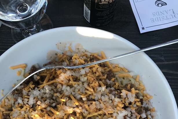 Roy Choi's chili spaghetti at Outside Lands Feast in the Trees