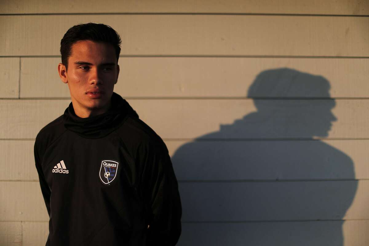 Ivan Valencia with the boys U-19 team before San Jose Earthquakes Academy practice in Sunnyvale, Calif., on Wednesday, August 9, 2017. The San Jose Earthquakes have built one of the most successful academy programs and while the senior team isn't very good, the future of the Earthquakes - and hopefully American soccer - is promising thanks to the infrastructure that MLS is supporting. during San Jose Earthquakes Academy practice in Sunnyvale, Calif., on Wednesday, August 9, 2017. The San Jose Earthquakes have built one of the most successful academy programs and while the senior team isn't very good, the future of the Earthquakes - and hopefully American soccer - is promising thanks to the infrastructure that MLS is supporting.