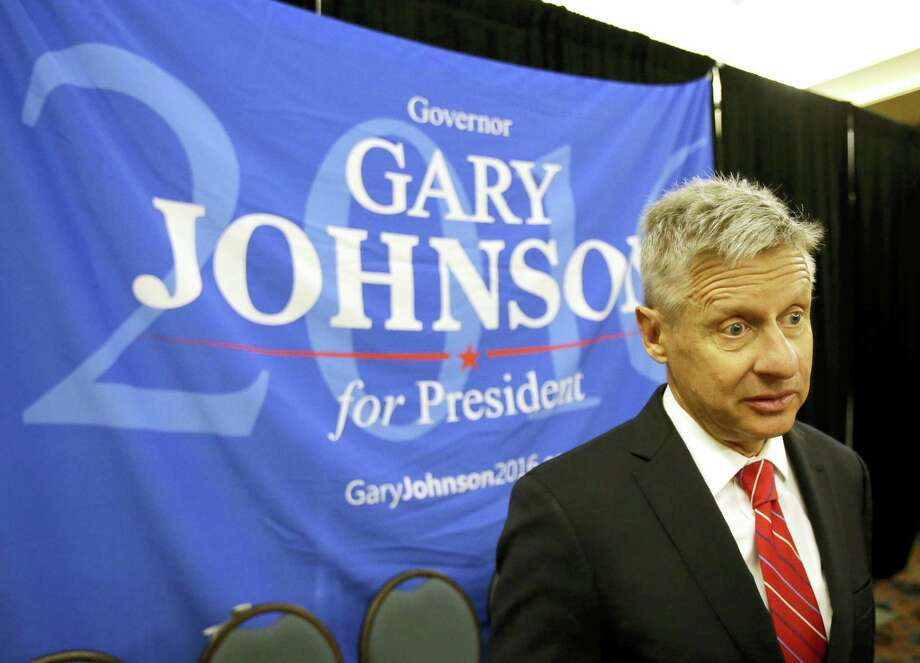 Libertarian presidential candidate Gary Johnson speaks to supporters and delegates at the National Libertarian Party Convention, in Orlando, Fla., on Friday. Photo: ASSOCIATED PRESS  / AP