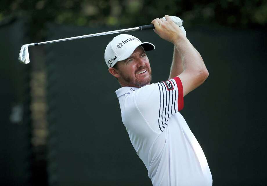 Jimmy Walker watches his tee shot on the 16th hole during the second round of the PGA Championship golf tournament at Baltusrol Golf Club in Springfield, N.J., Friday. Photo: Mike Groll — The Associated Press  / AP