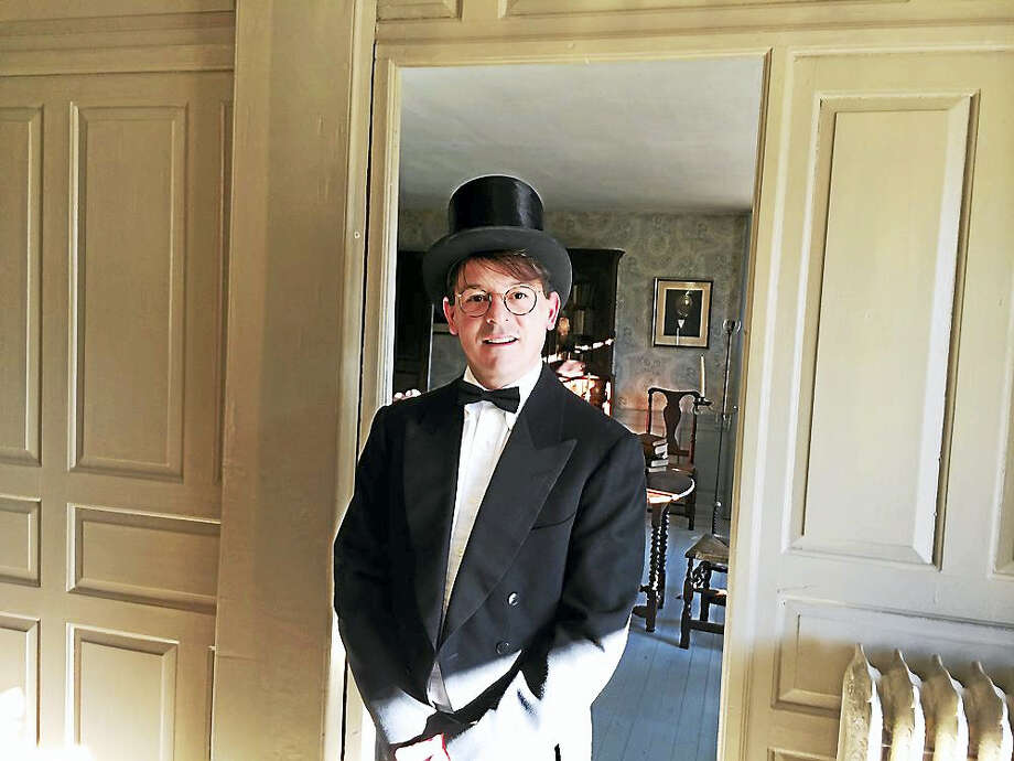 Contributed photoA costumed actor greets visitors at the Stanton House in Clinton. Photo: Digital First Media
