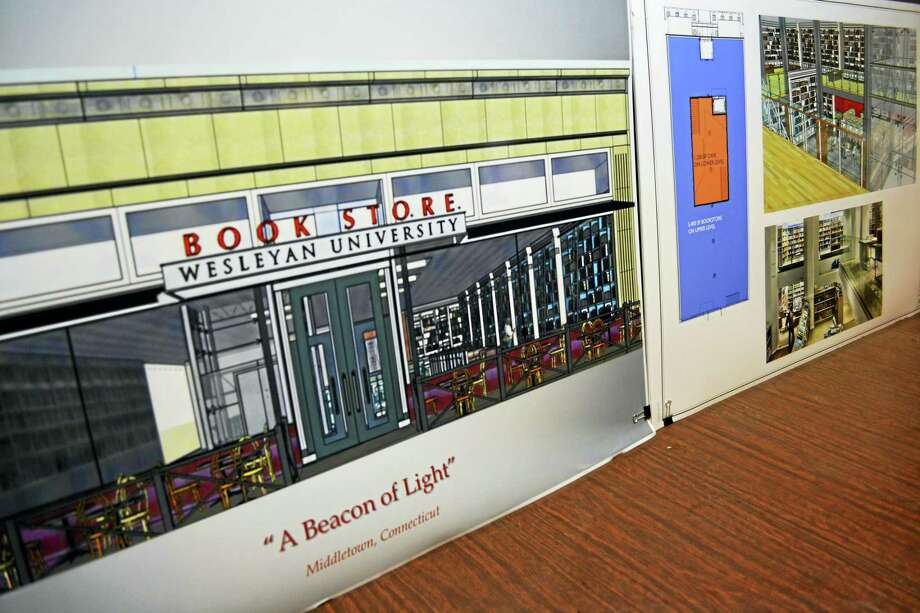 The Wesleyan University Bookstore, which will be built with an open concourse design and include a cafe, will replace Broad Street Books on Broad Street. Construction is set to begin and the shop's anticipated opening will take place in late spring. Photo: Cassandra Day — The Middletown Press