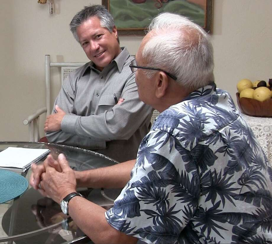 Dr. Bob Uslander (left) of San Diego, shown with a nonterminal patient, says he has provided life-ending medication to about 25 patients since California's aid-in-dying law took effect.