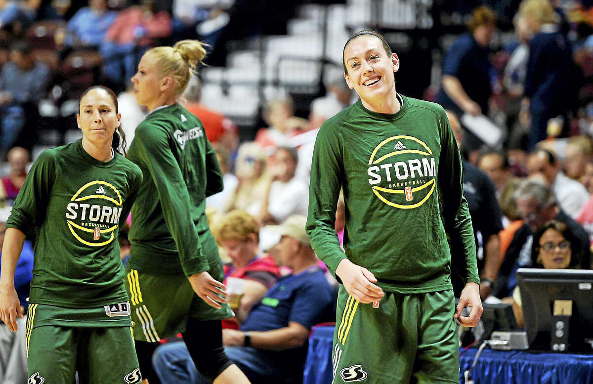The Seattle Storm's Breanna Stewart was named the WNBA rookie of the year on Thursday.