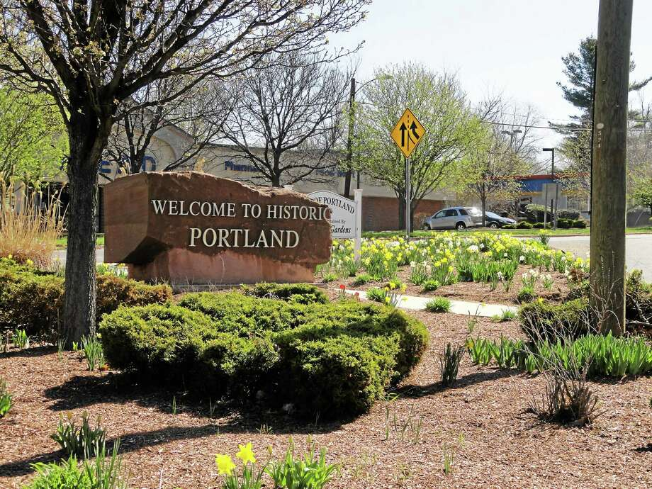 A brownstone marker greets visitors to Portland. Photo: File Photo