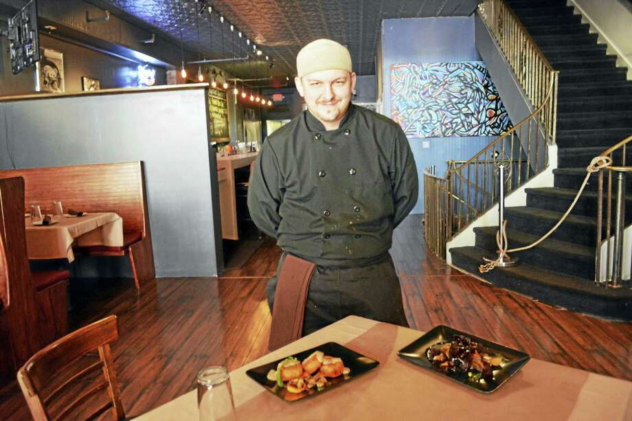 "Camp's restaurant Executive Chef Chris Sassi is excited to serve his take on comfort food that momma used to make. ""We reintroduce you to cooking you may have grown up with like fried chicken, but done in a new and different way."" Photo: Cassandra Day — The Middletown Press"