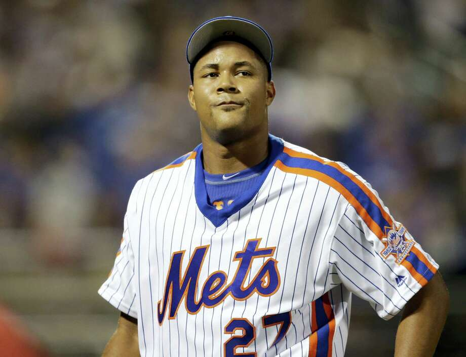 Mets closer Jeurys Familia reacts as he leaves the field during the ninth inning against the Dodgers at Citi Field on Sunday. Photo: Seth Wenig — The Associated Press  / Copyright 2016 The Associated Press. All rights reserved. This material may not be published, broadcast, rewritten or redistribu