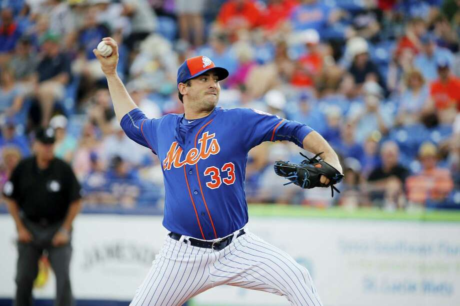 Matt Harvey remains on track to start Sunday night's opener at Kansas City after passing a blood clot in his bladder. Photo: The Associated Press File Photo  / AP