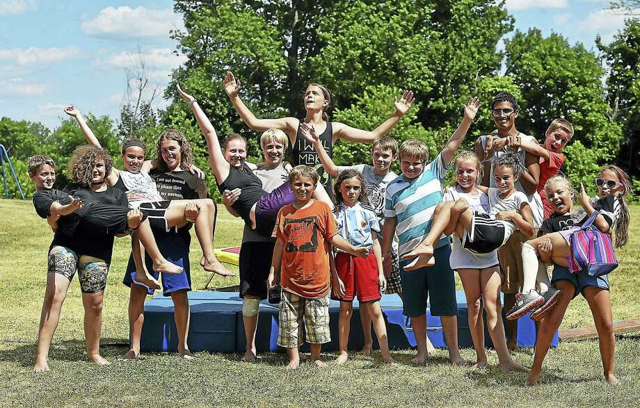 """Campers rehearse on Wednesday for the 28th annual performance, """"TIME for Circus,"""" which will be presented Friday at 5 p.m. at Spencer Elementary School in Middletown. Photo: Catherine Avalone — New Haven Register   / New Haven RegisterThe Middletown Press"""