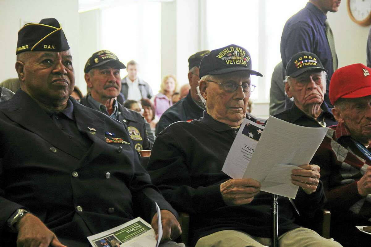 """You are the men and women who preserve our freedom,"" Middletown Mayor Dan Drew told veterans who attended the program."