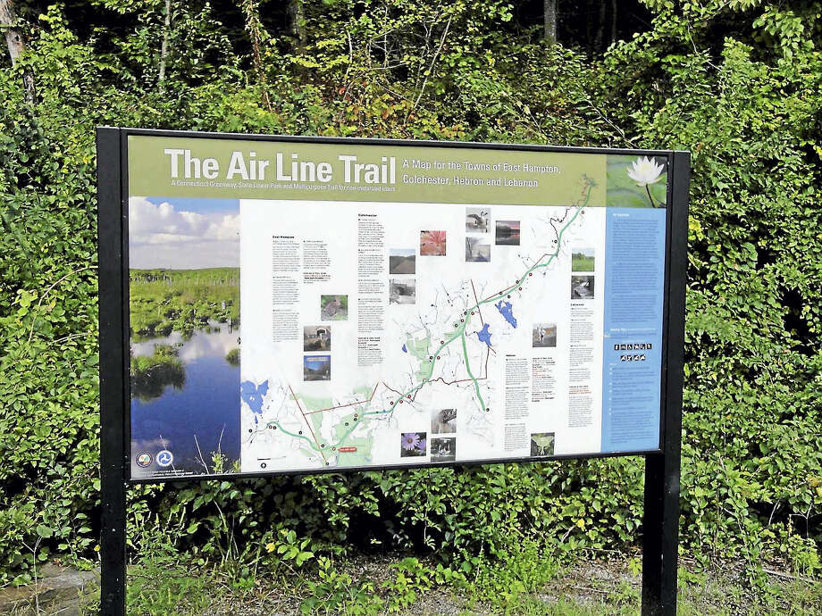 Hikers, bicyclists, bird watchers and many others use the Air Line Trail, which will soon travel through Portland, East Hampton, Colchester, Hebron-Amston, Lebanon and Willimantic. Photo: Courtesy House Republicans